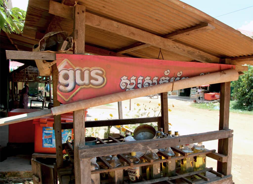 Tankstelle in Siem Reap, Kambodscha