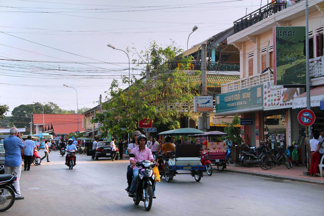 Straße in Siem Reap, Kambodscha