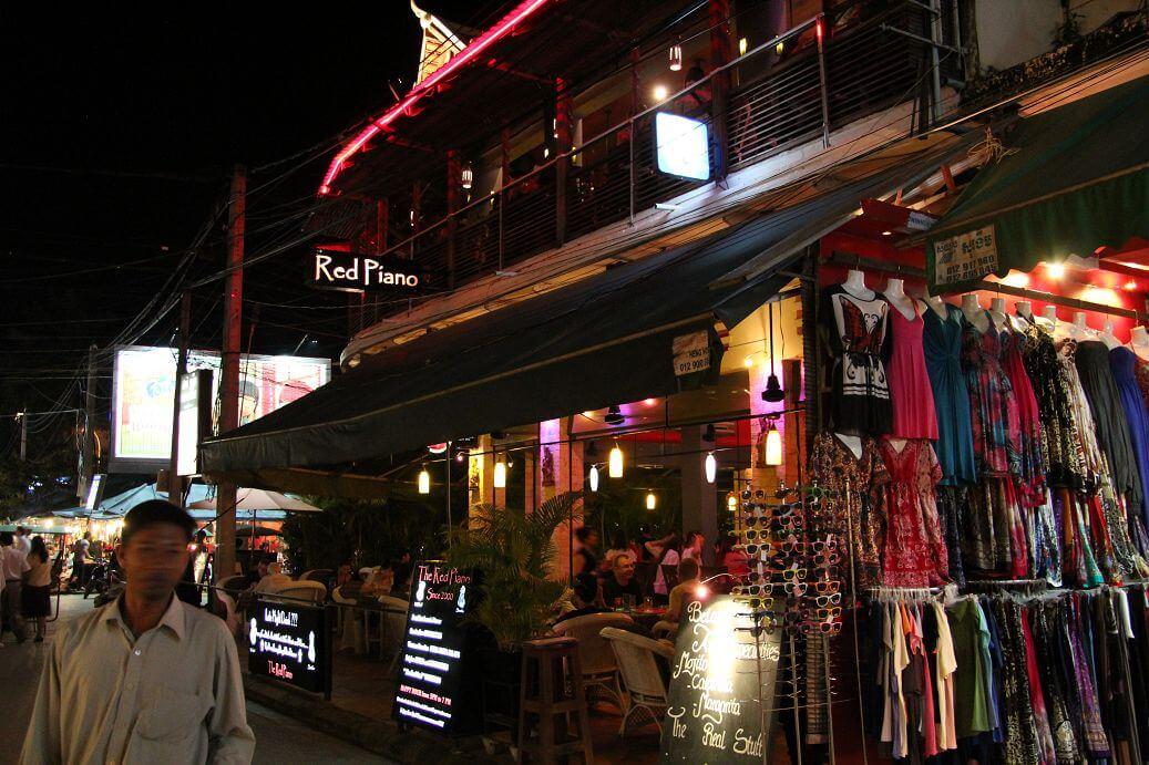 Pub Street at Night in Siem Reap