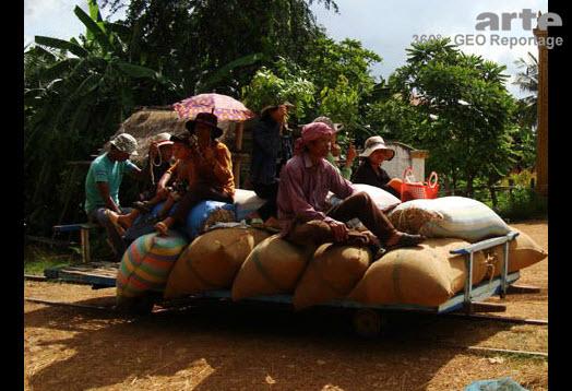 Die Bambusbahn von Kambodscha