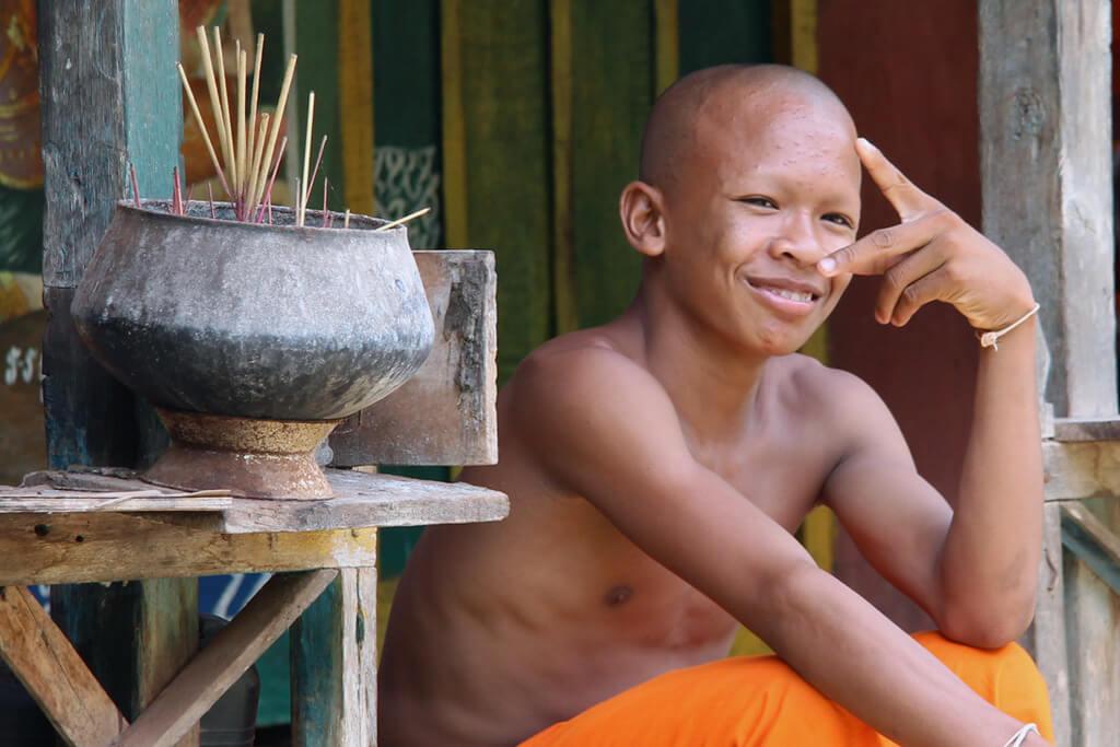Allgegenwärtig: Mönche in Kambodscha
