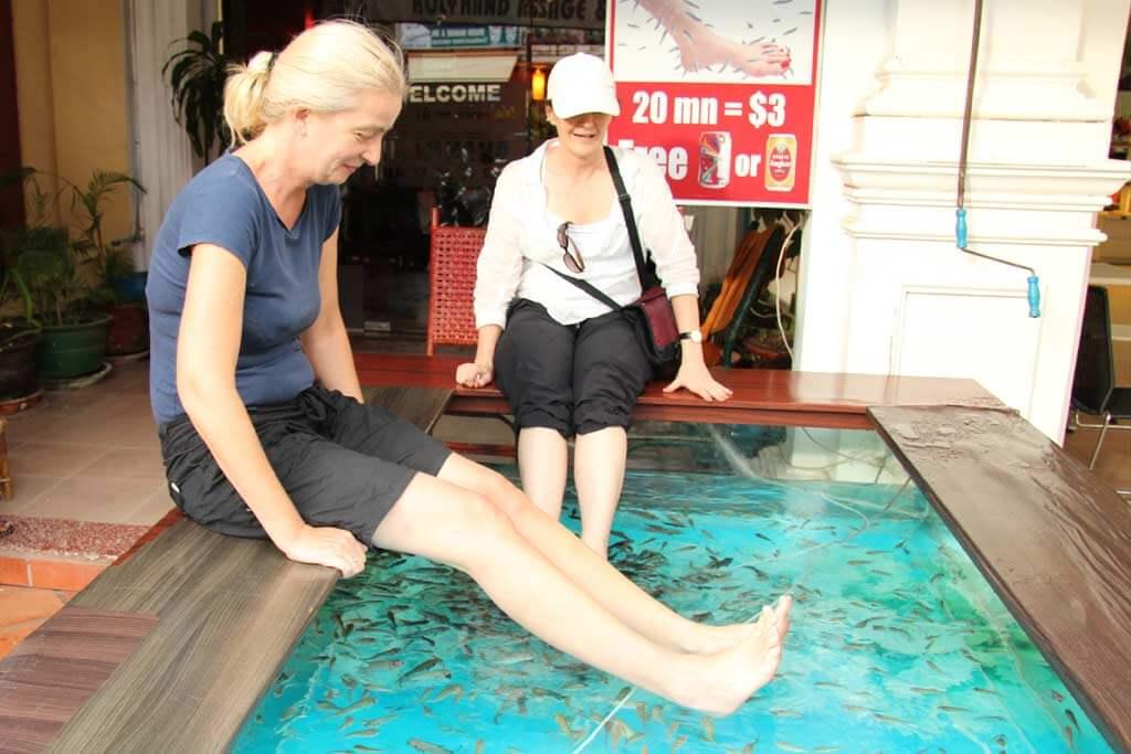 Fischmassate in Siem Reap