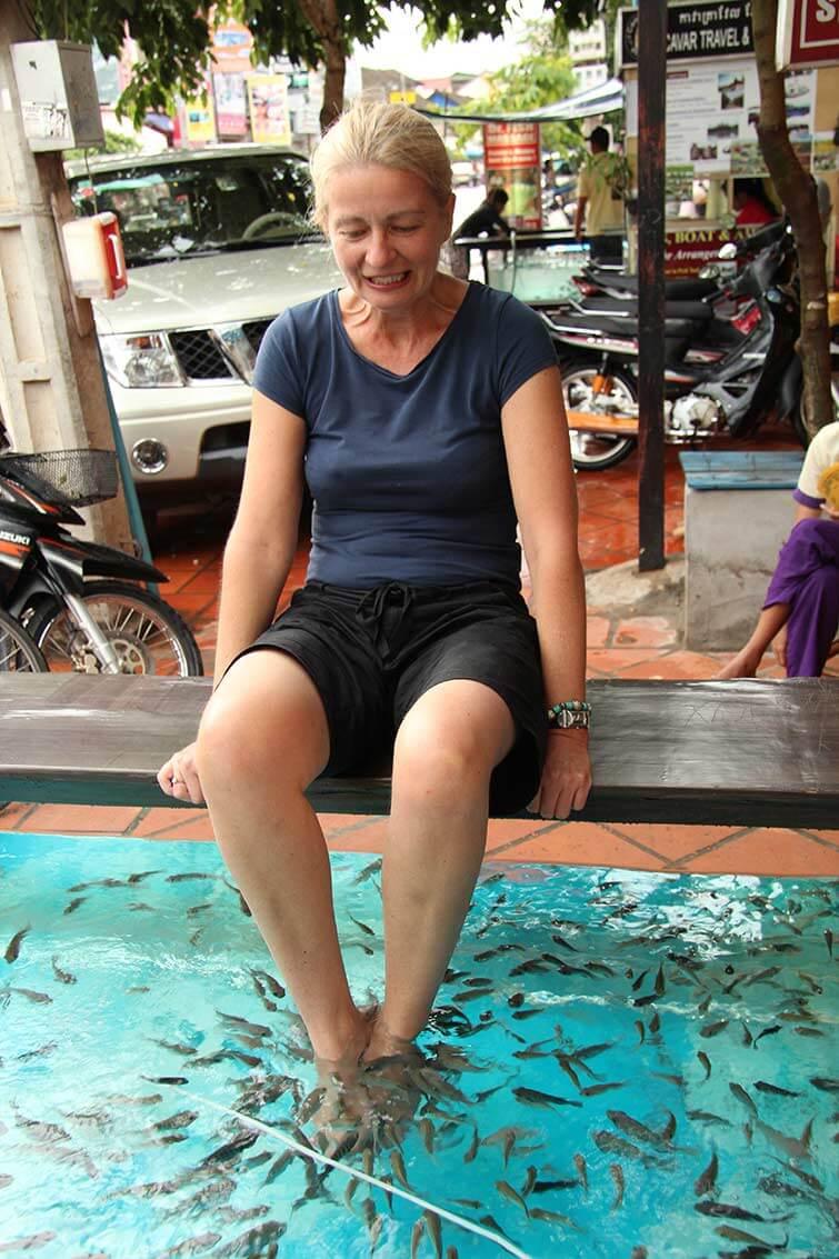 Fischmassage in Siem Reap