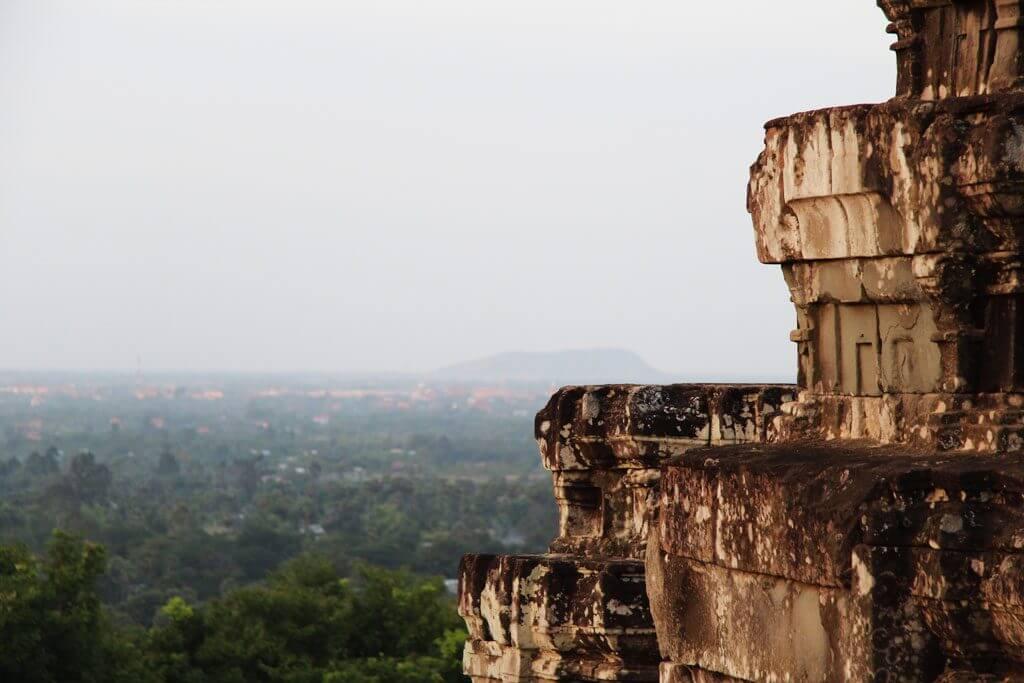 Die Sicht auf Siem Reap von Phnom Bakheng