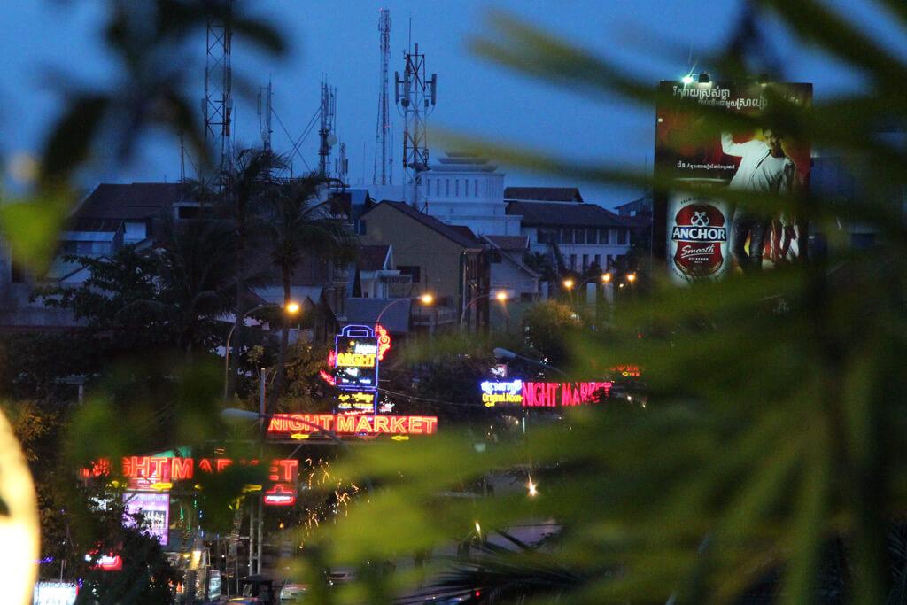 Blick von der Dachterrasse des Hotels Terrasse des Elephants