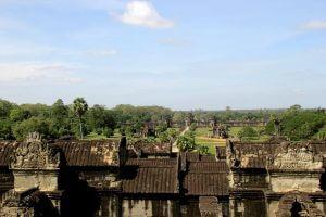 Panoramaaussicht von Angkor Wat