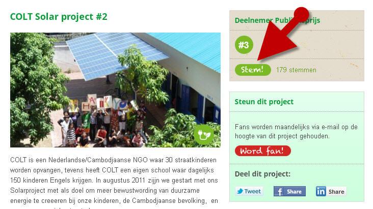 Jetzt mitmachen und abstimmen für ein Solarprojekt in Kambodscha!