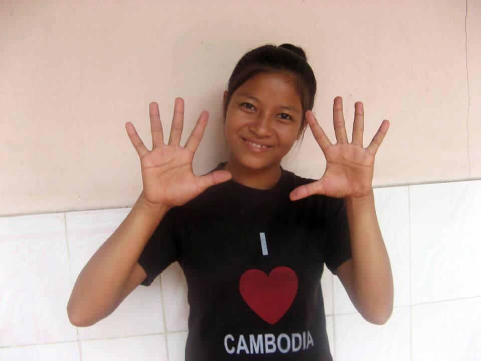 Die Zahlen eins bis zehn in der Sprache Khmer