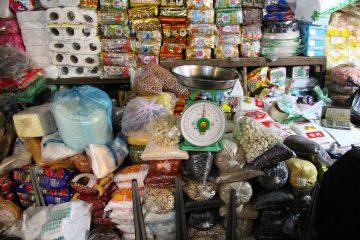 Stand mit Produkten am Old Market in Siem Reap