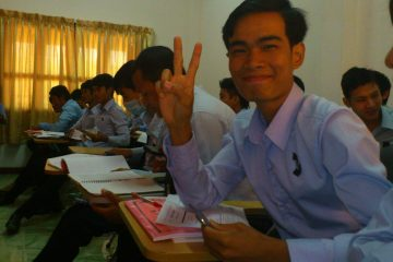 Ly Heng an der UESA Univversität in Siem Reap