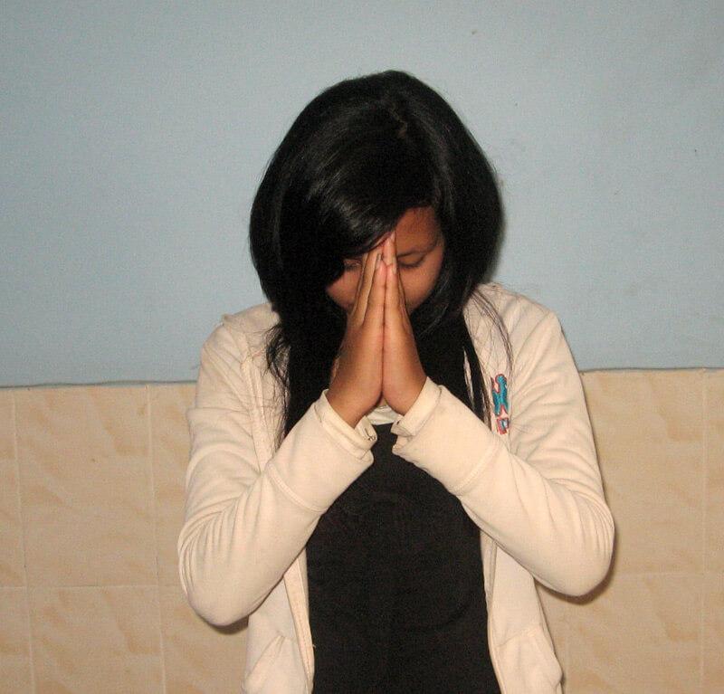 Fünftes Sampeah zum Anbeten von Gott oder heiligen Statuen
