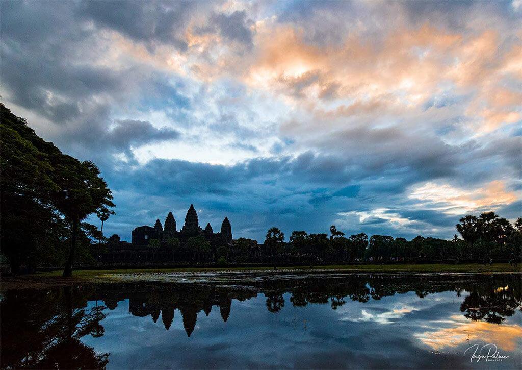 Angkor Wat. Sonnenaufgabg - nördlicher Seerosenteich