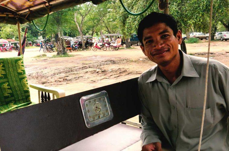Sophal Ouk - Tuk Tuk Fahrer in Siem Reap, Kambodscha