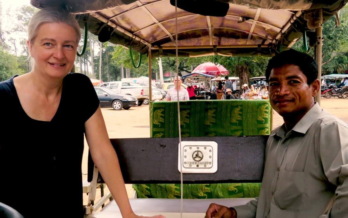 Inga und Sophal - Tuk Tuk Siem Reap, Kambodscha