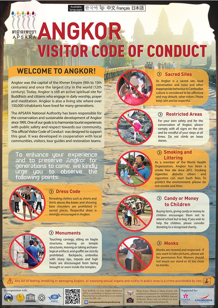 Angkor-Verhaltensregeln