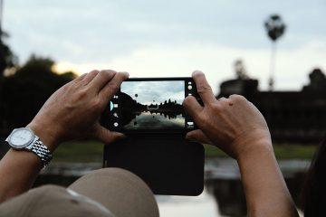 Angkor Wat - Foto mit Smartpphone