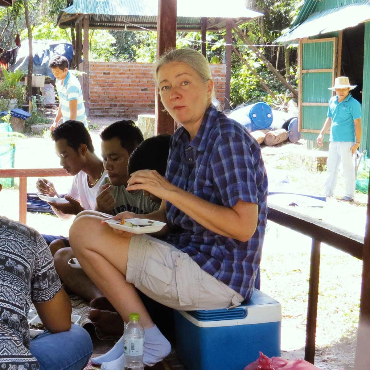 Picknick bei einem Ausflug nach Phnom Kulen
