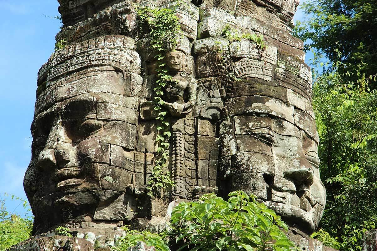 Die vier Gesichter von König Jayavarman VII - Bayon Tempel, Angkor