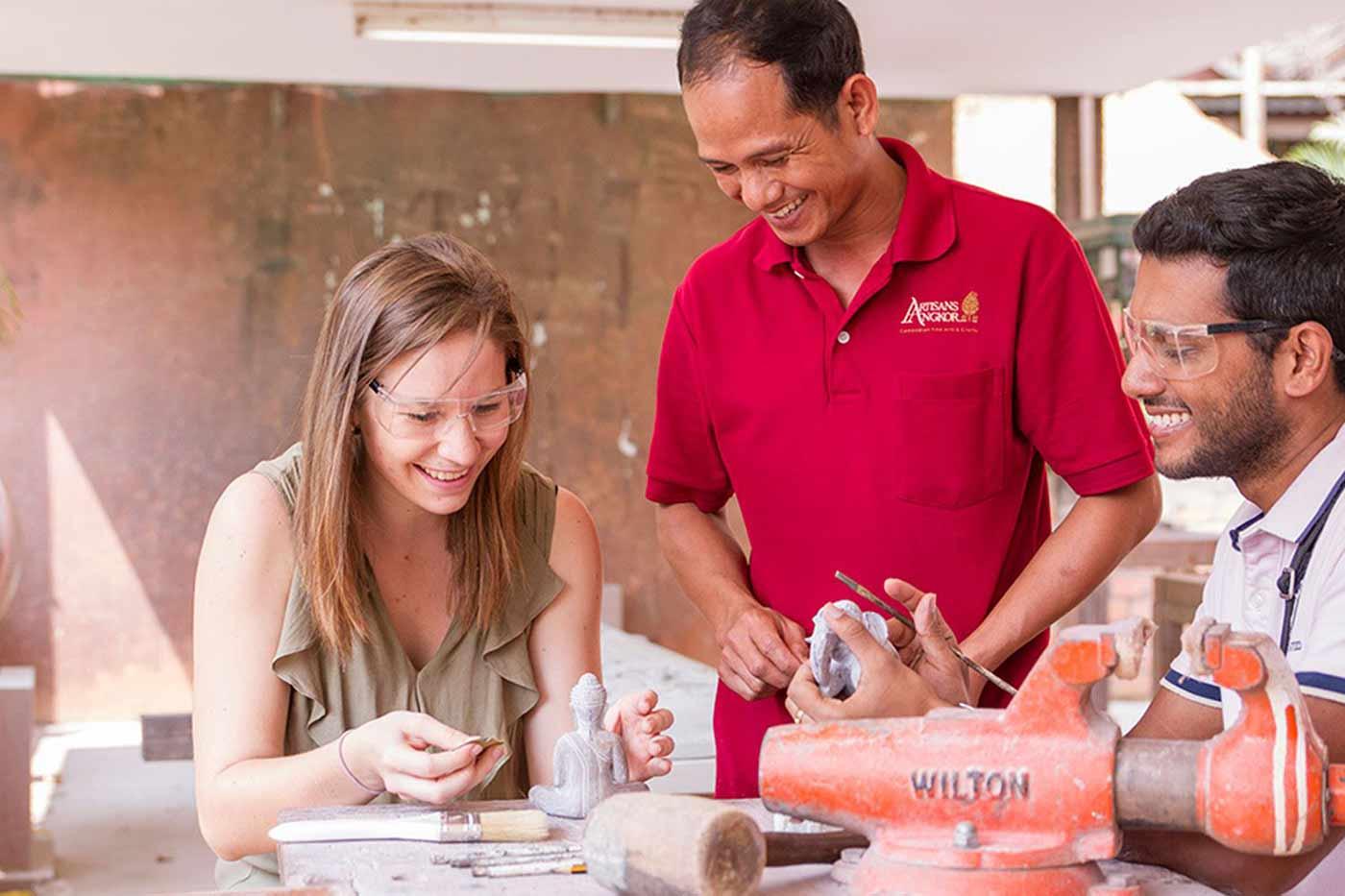 Artisans Angkor - Besuch der Werkstätten in Siem Reap