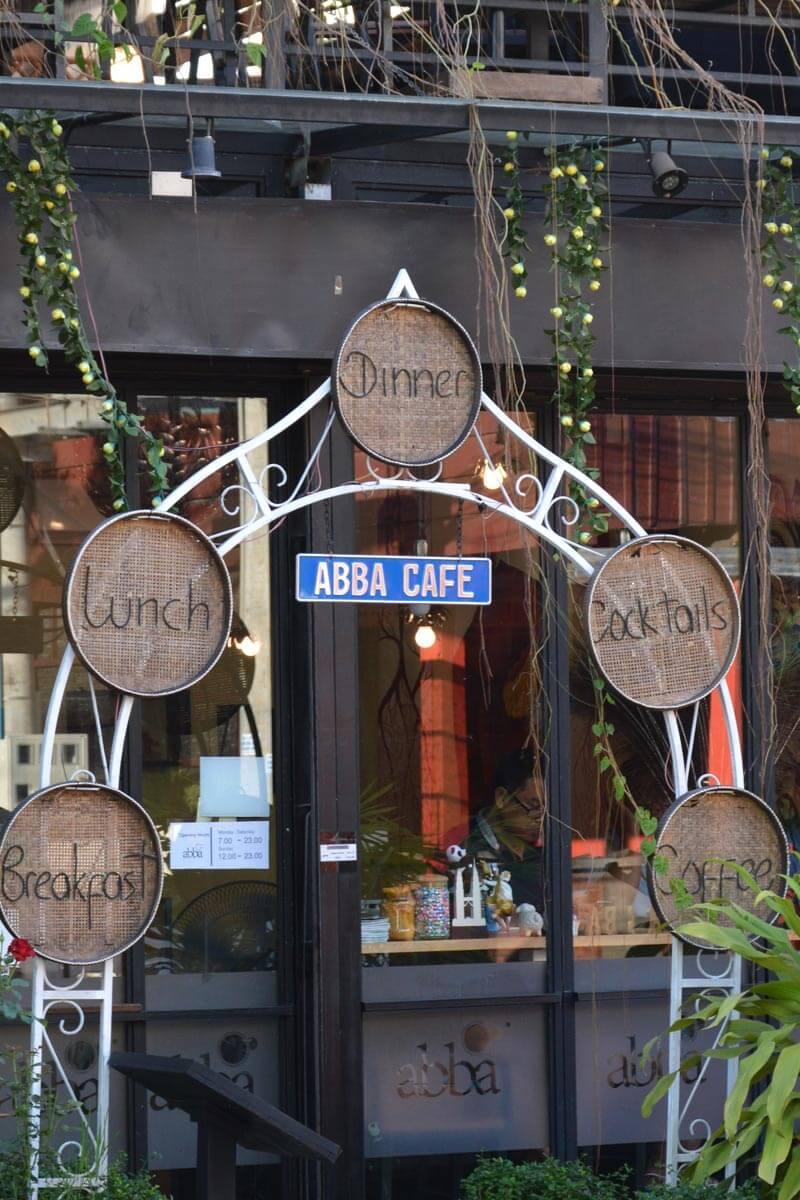 ABBA Cafe Siem Reap, Eingang