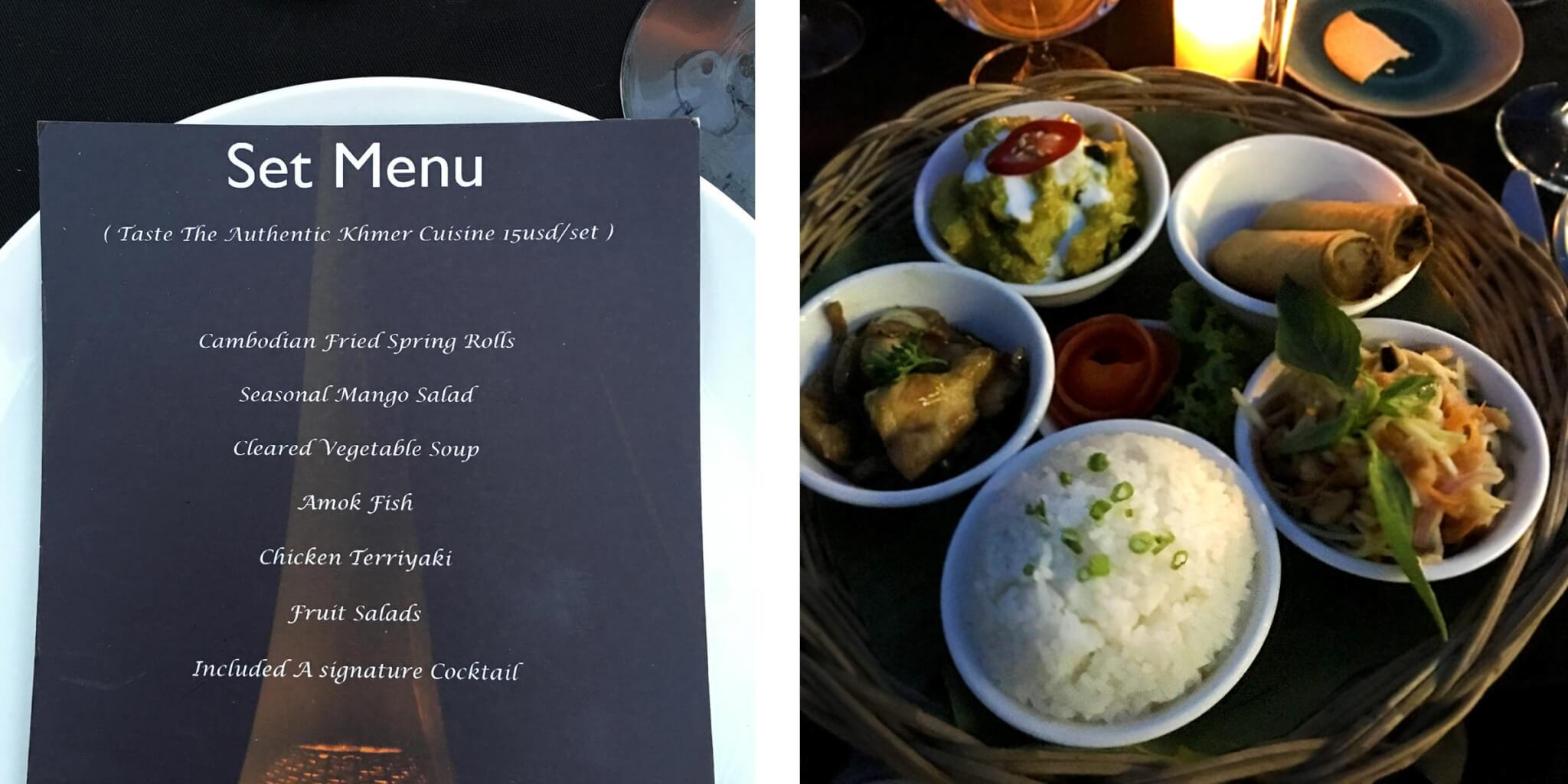 ABBA Cafe Siem Reap, Khmer Set Menü