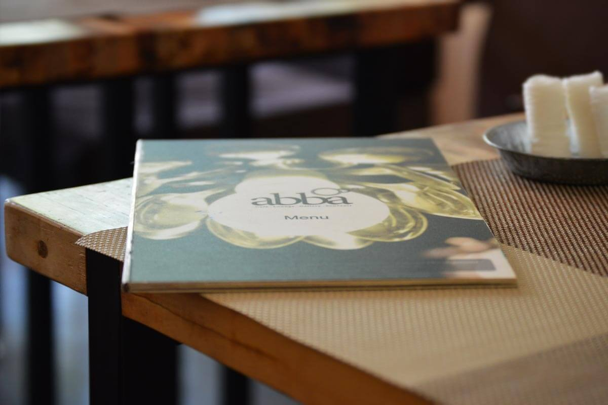 Abba Cafe Siem Reap, Speisekarte