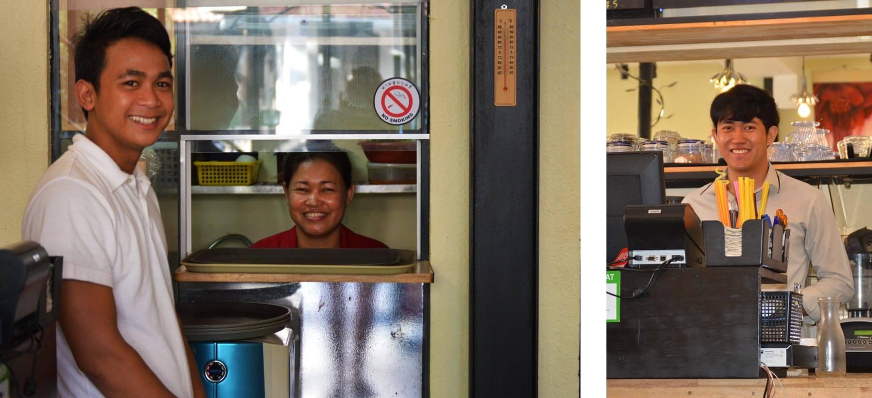 ABBA Cafe, Siem Reap - Service und Küche