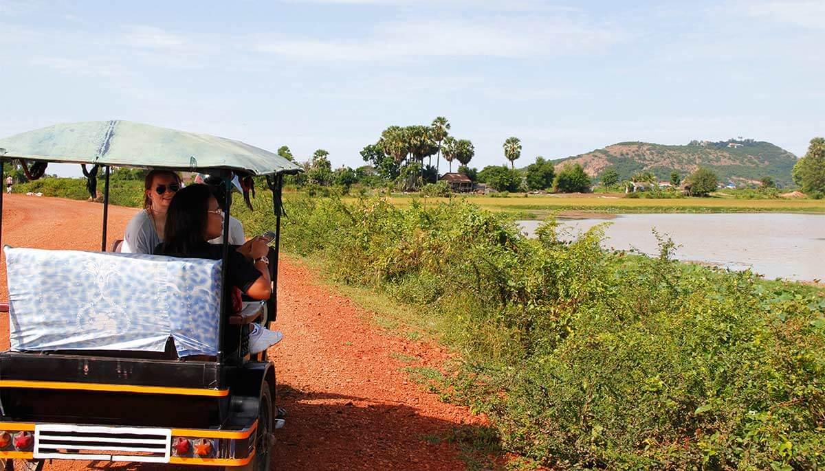 Tuk Tuk Fahrt nach Phnom Krom
