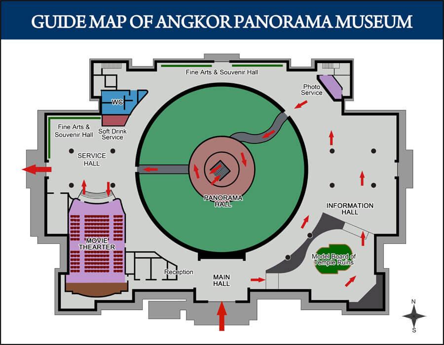Grundriss Angkor Panorama Museum