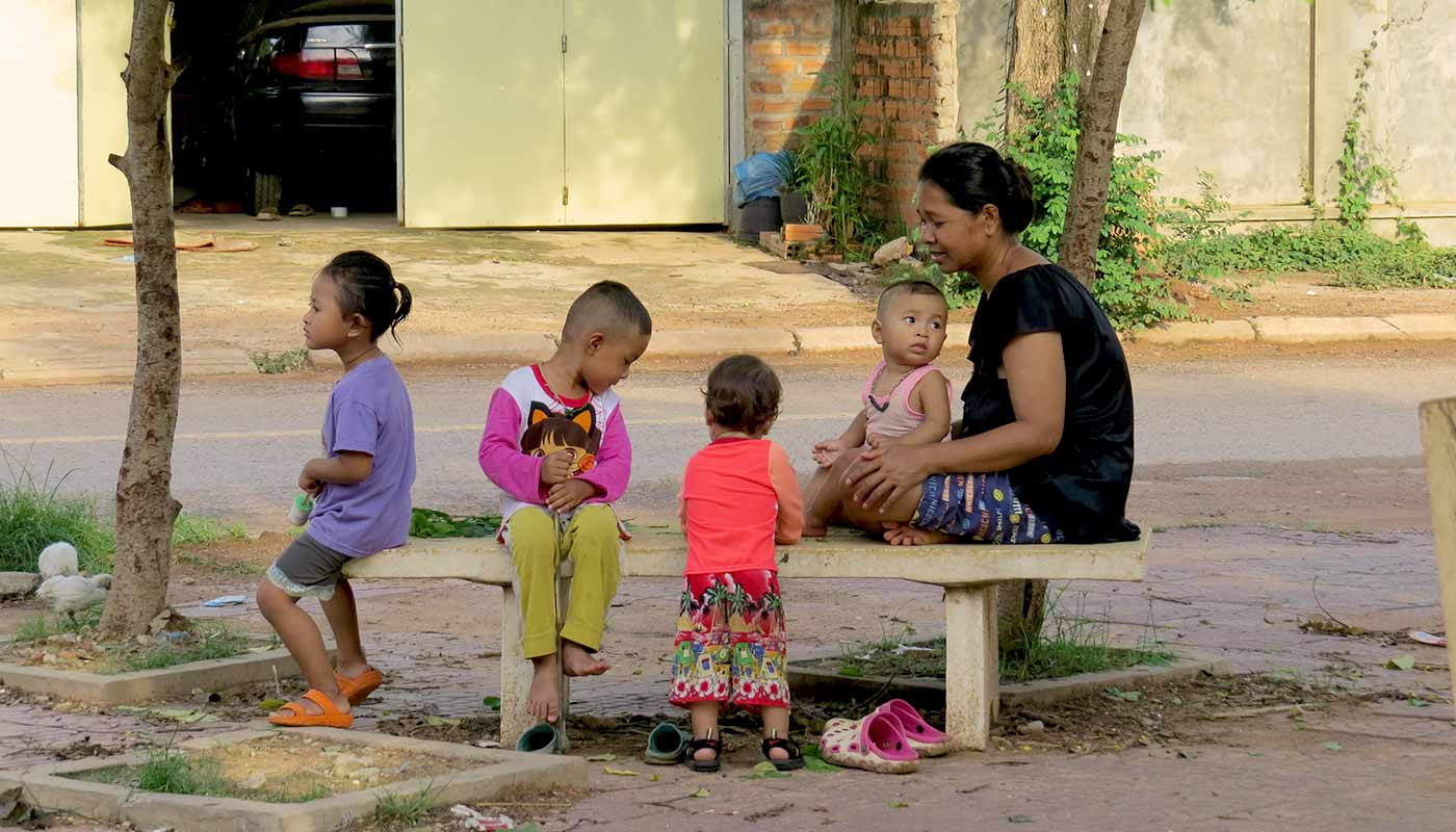 Familie in Siem Reap, Kambodscha