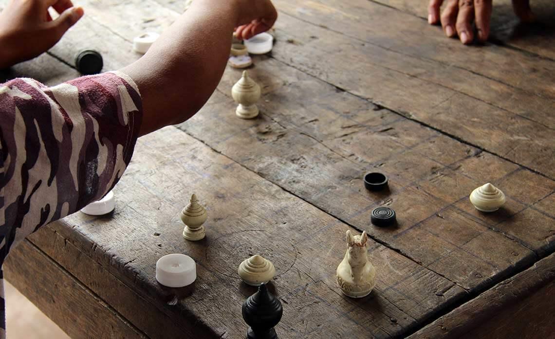 Schachspieler Siem Reap