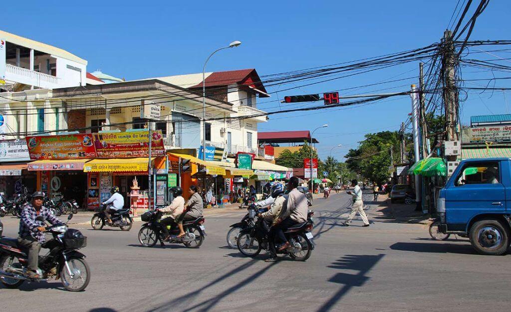 Straßenkreuzung Siem Reap