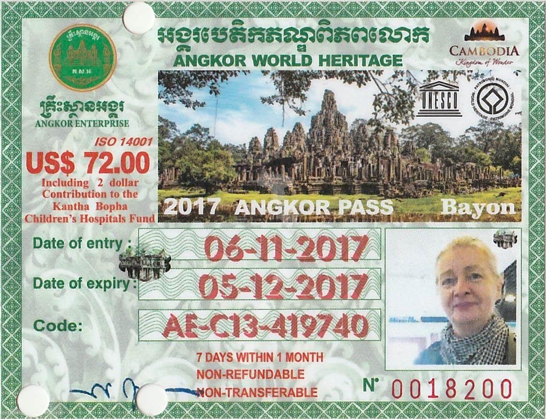 Angkor Ticket Vorderseite