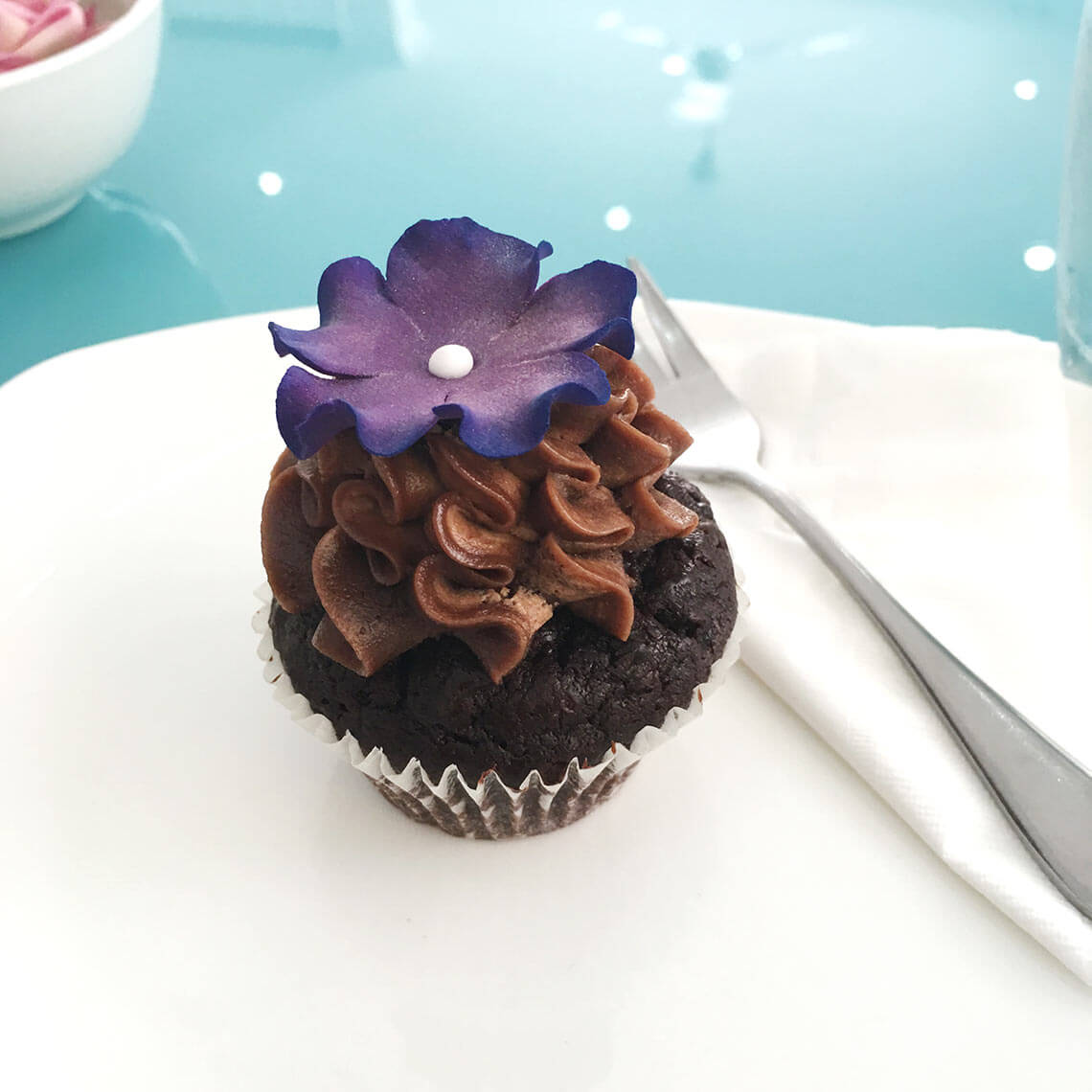 Schoko Cupcake im Bloom Cafe, Siem Reap