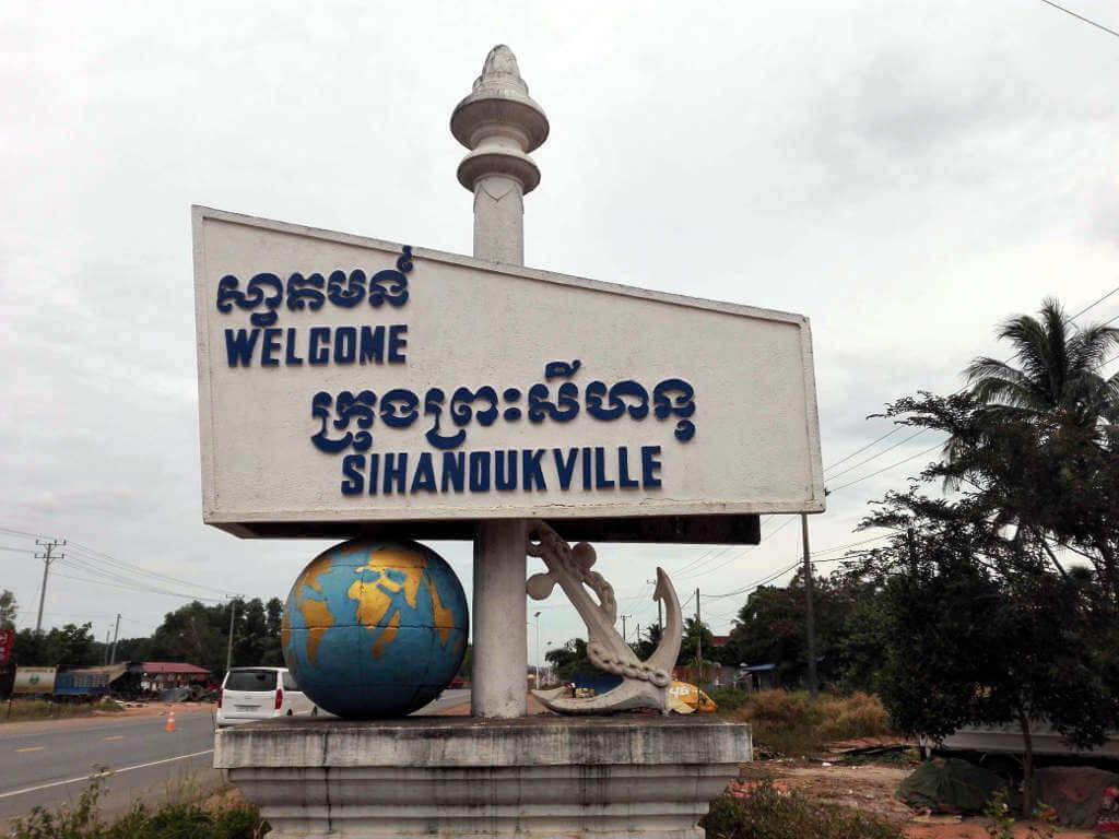 Willkommensschild - Sihanoukville, Kambodscha