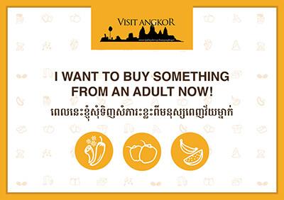 Handzettel zum Einkaufen in Kambodscha bei Erwachsenen