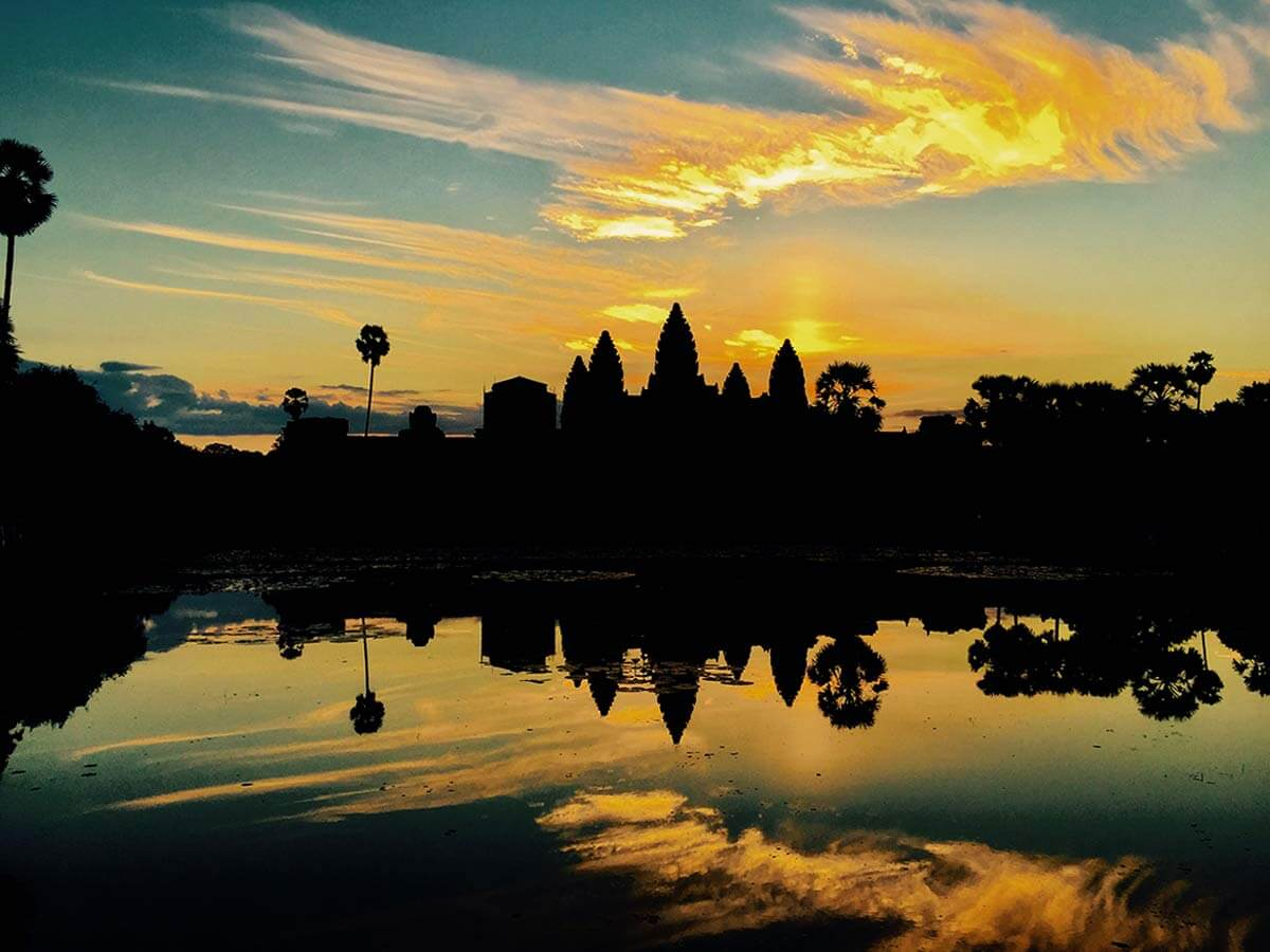 Angkor Wat, Sonnenaufgang Margrit Naef-Spielmann
