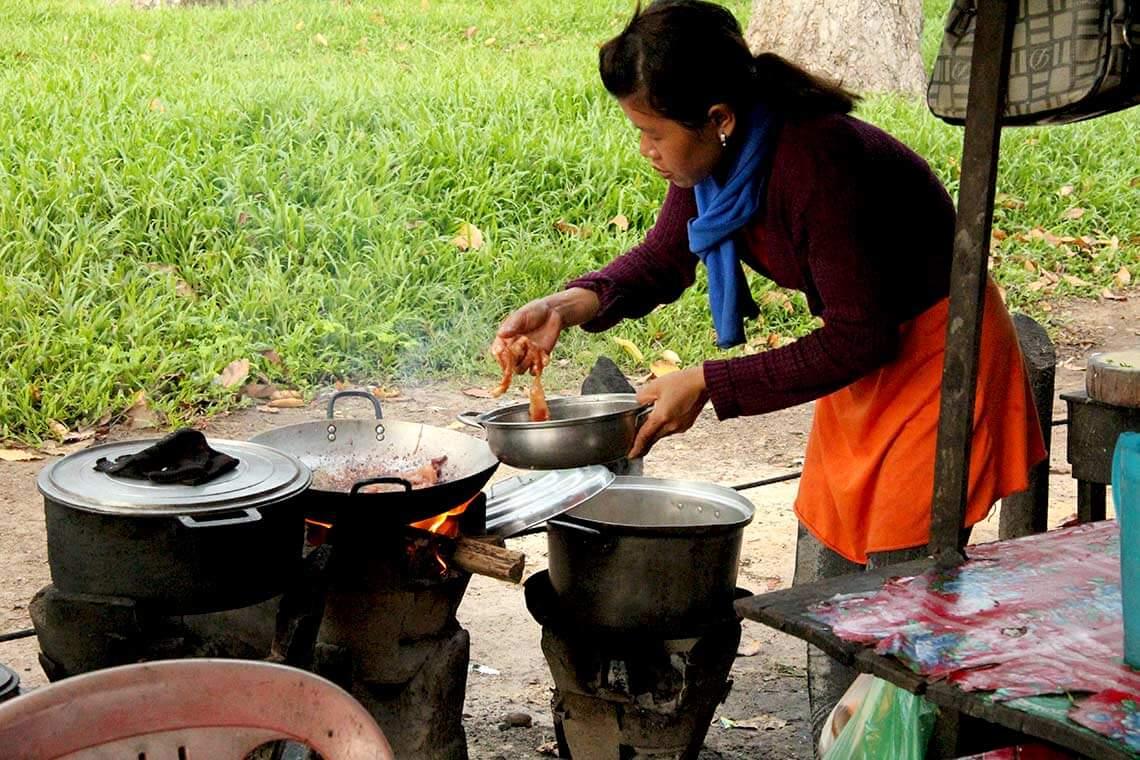 Kleines Streetfood Restaurant im Angkor Park