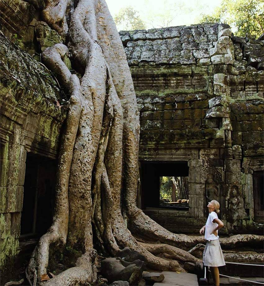 Me vor dem Ta Prohm Tempel