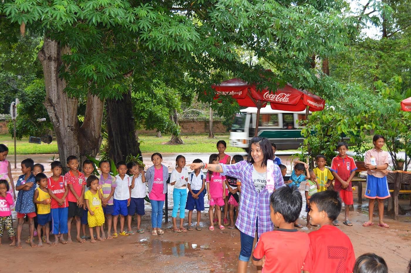 Kinderparty im Angkor Park und wir mittendrin *Photostory*