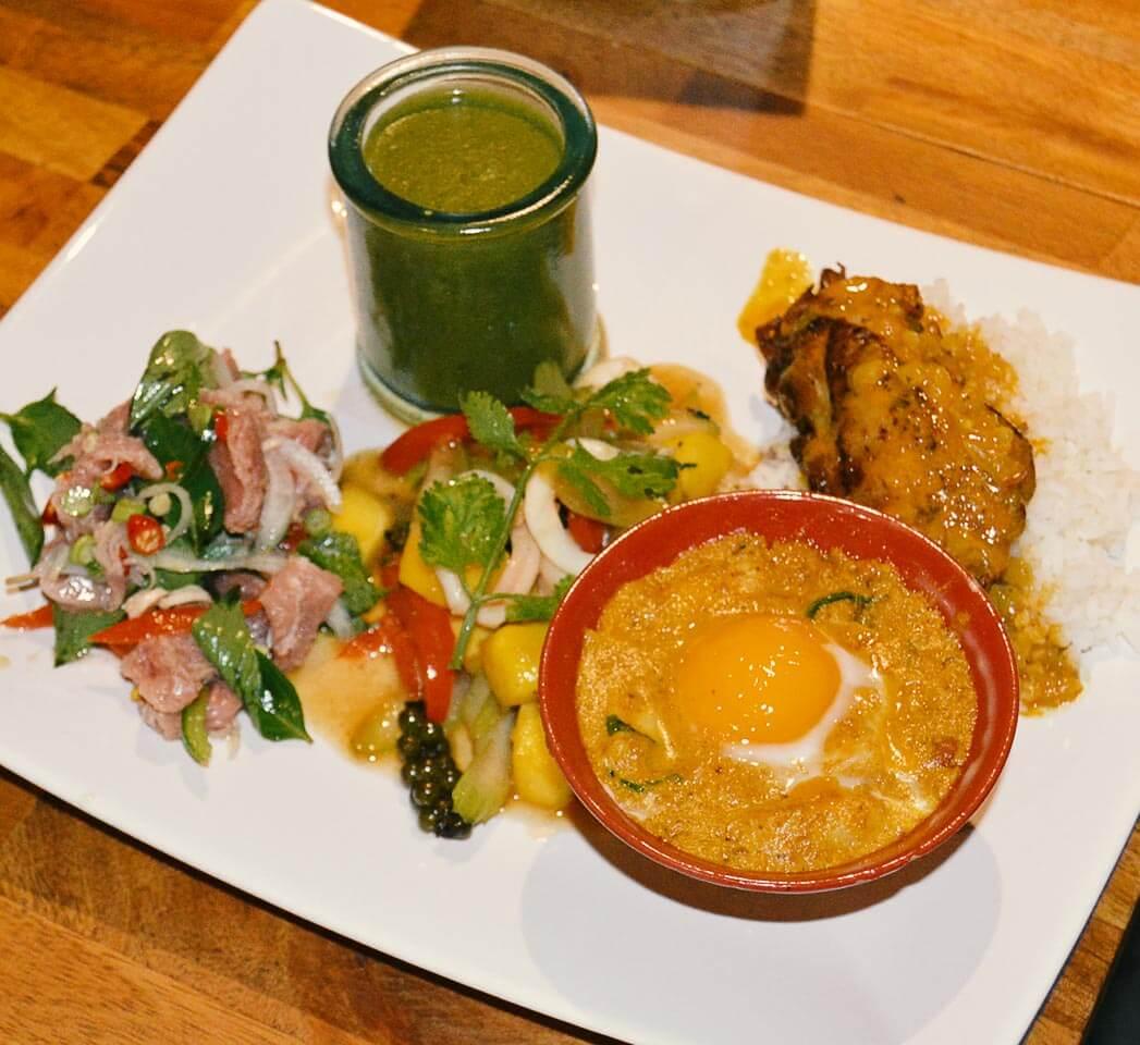 Gerichte ohne Insekten im Bugs Cafe in Siem Reap