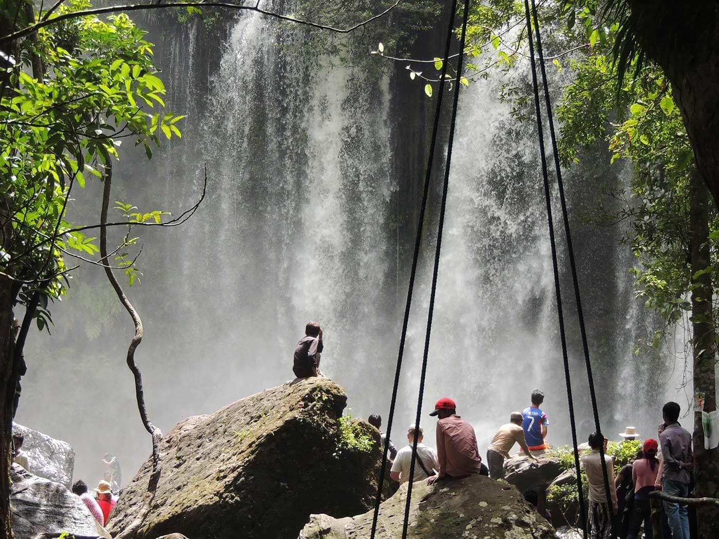 Wasserfall am Phnom Kulen zur Regenzeit