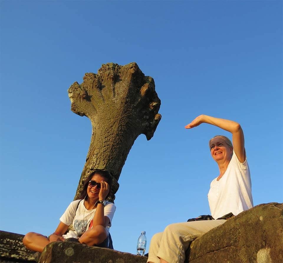 Blauer Himmel - Angkor