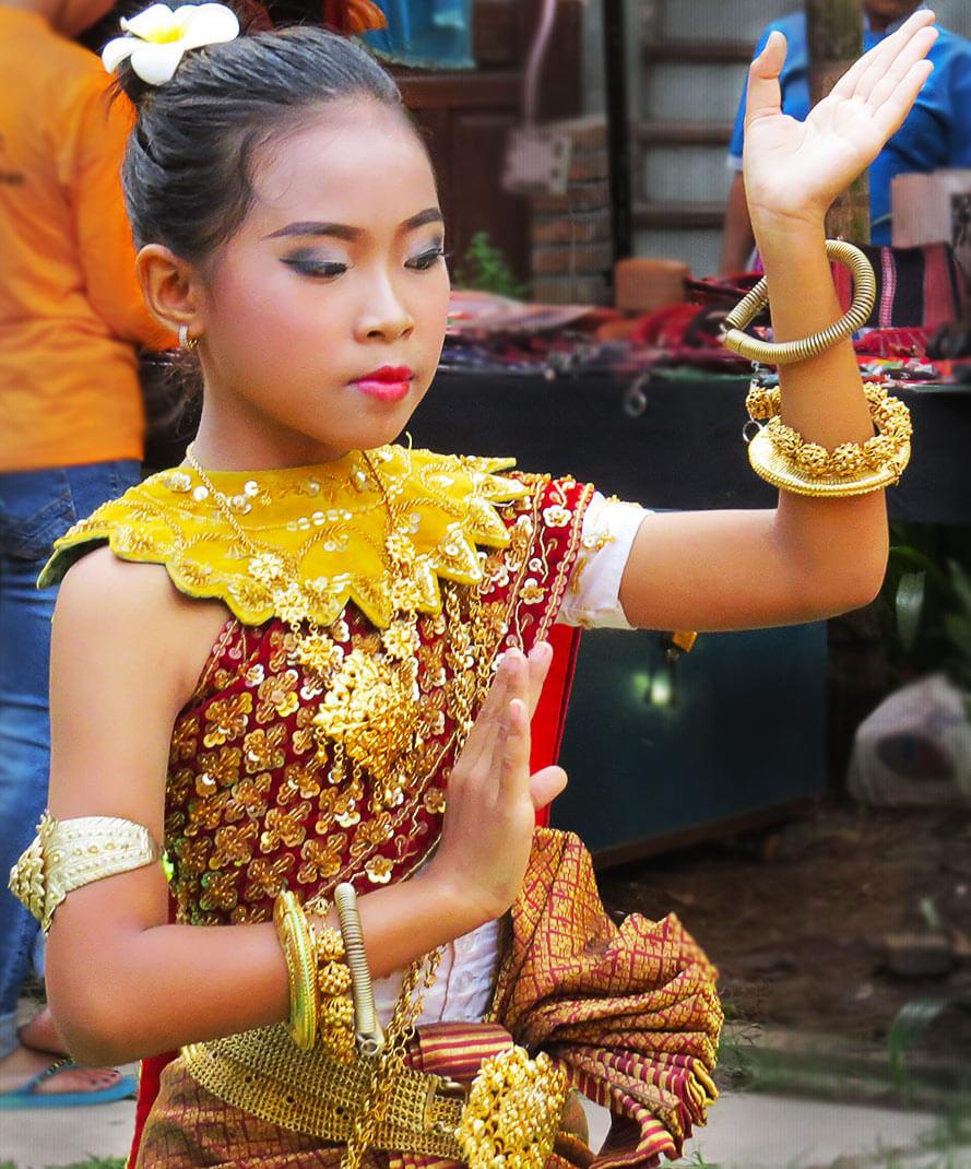 Apsara Tänzerin - made in Cambodia Markt, Siem Reap