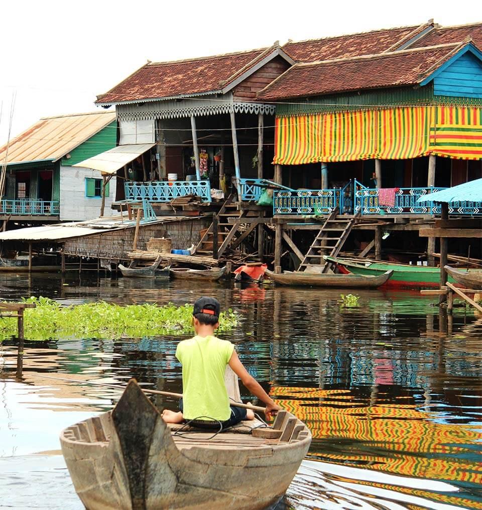 Dörfer am Tonle Sap See