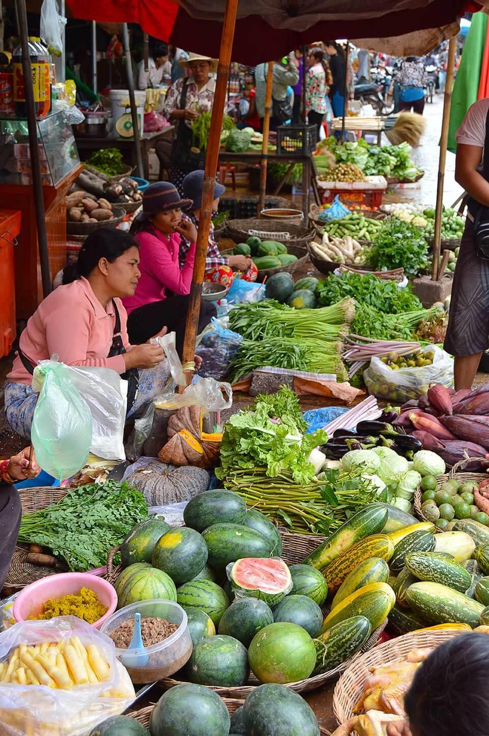 Obst und Gemüsemarkt in Siem Reap