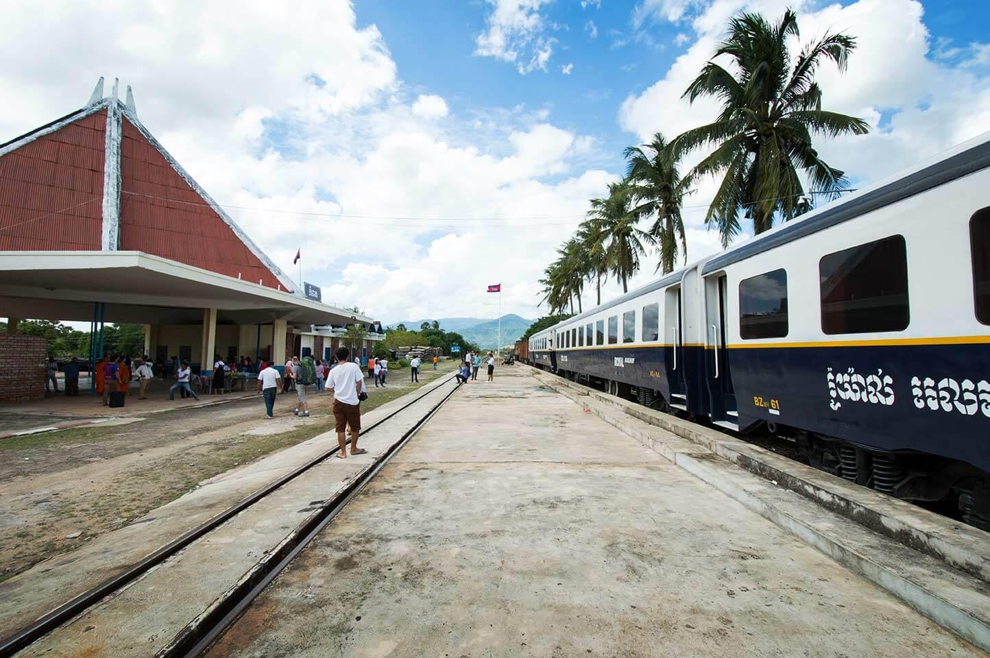 Bahnhof Kampot - Ankunft