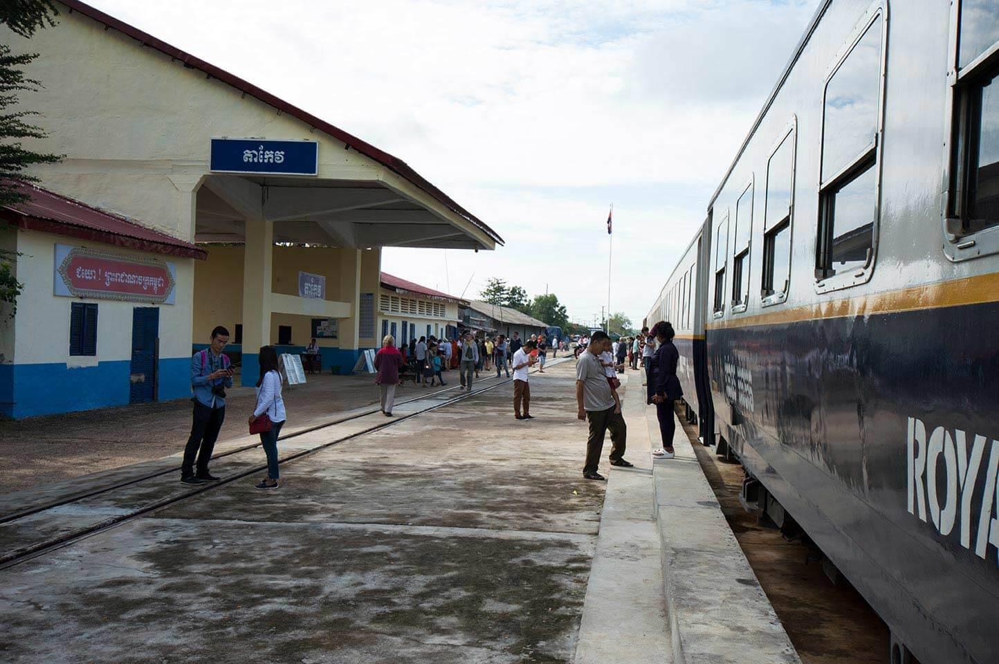Bahnhof Takeo - Zwischenstop auf dem Weg nach Kampot / Sihanoukville
