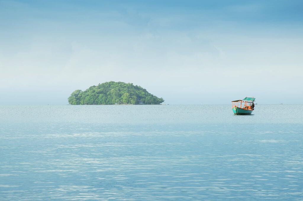 Blick auf das Meer am Otres Beach in Sihanoukville, Kambodscha