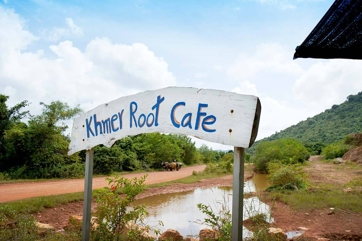 Khmer Root Cafe am Secret Lake in Kampot, Kambodscha